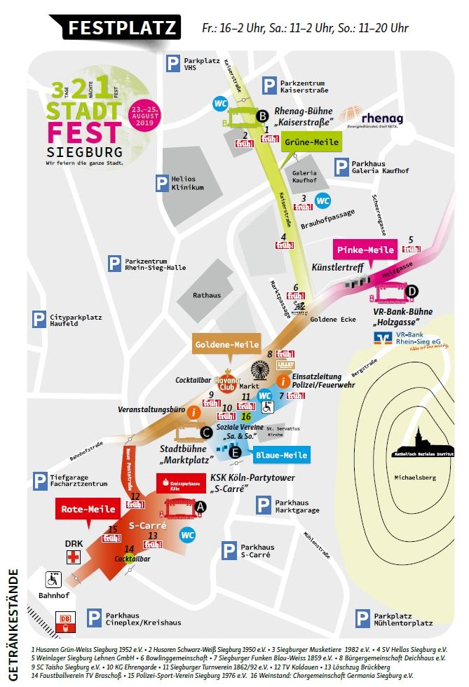 Festplatzplan Stadtfest 2019