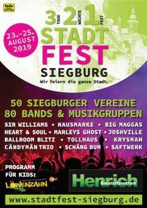 Plakat Stadtfest Siegburg 2019