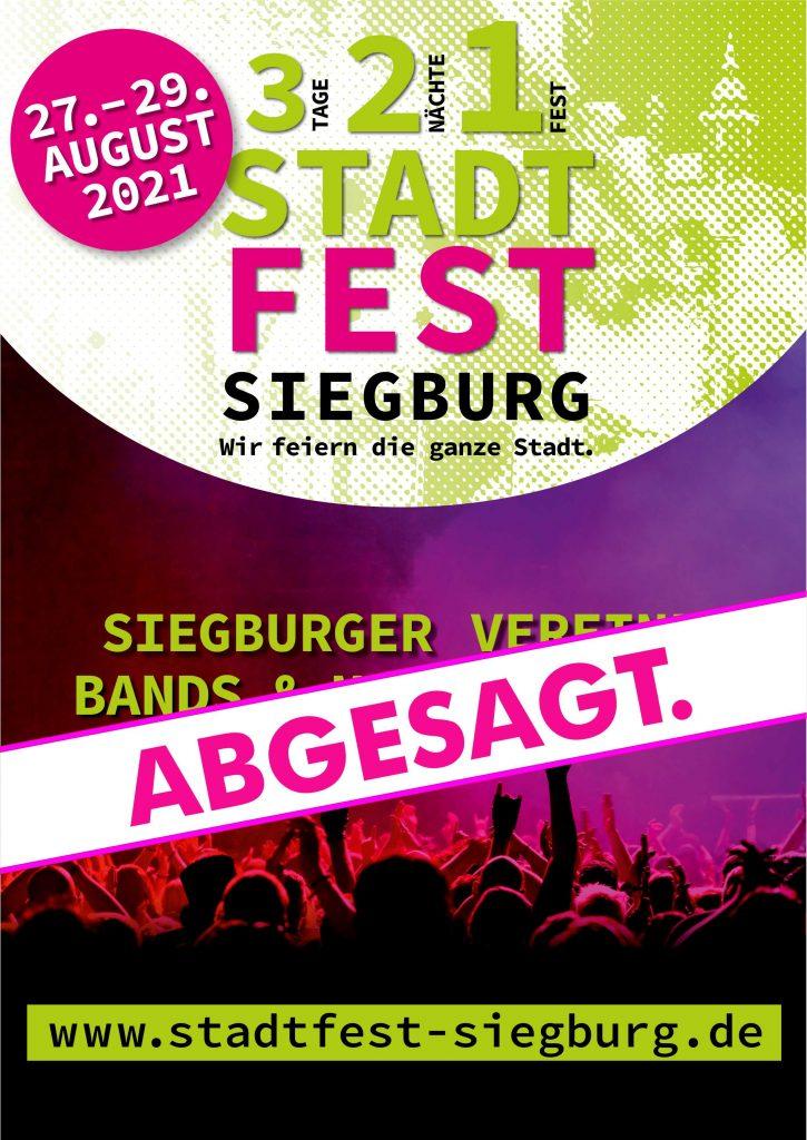 Stadtfest Siegburg 2021 ist abgesagt!